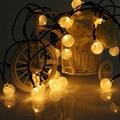 2.1M 20LEDs Crystal Ball Solar Christmas Lamps rystal Ball Waterproof Outdoor solar led string fairy light Garden Decor