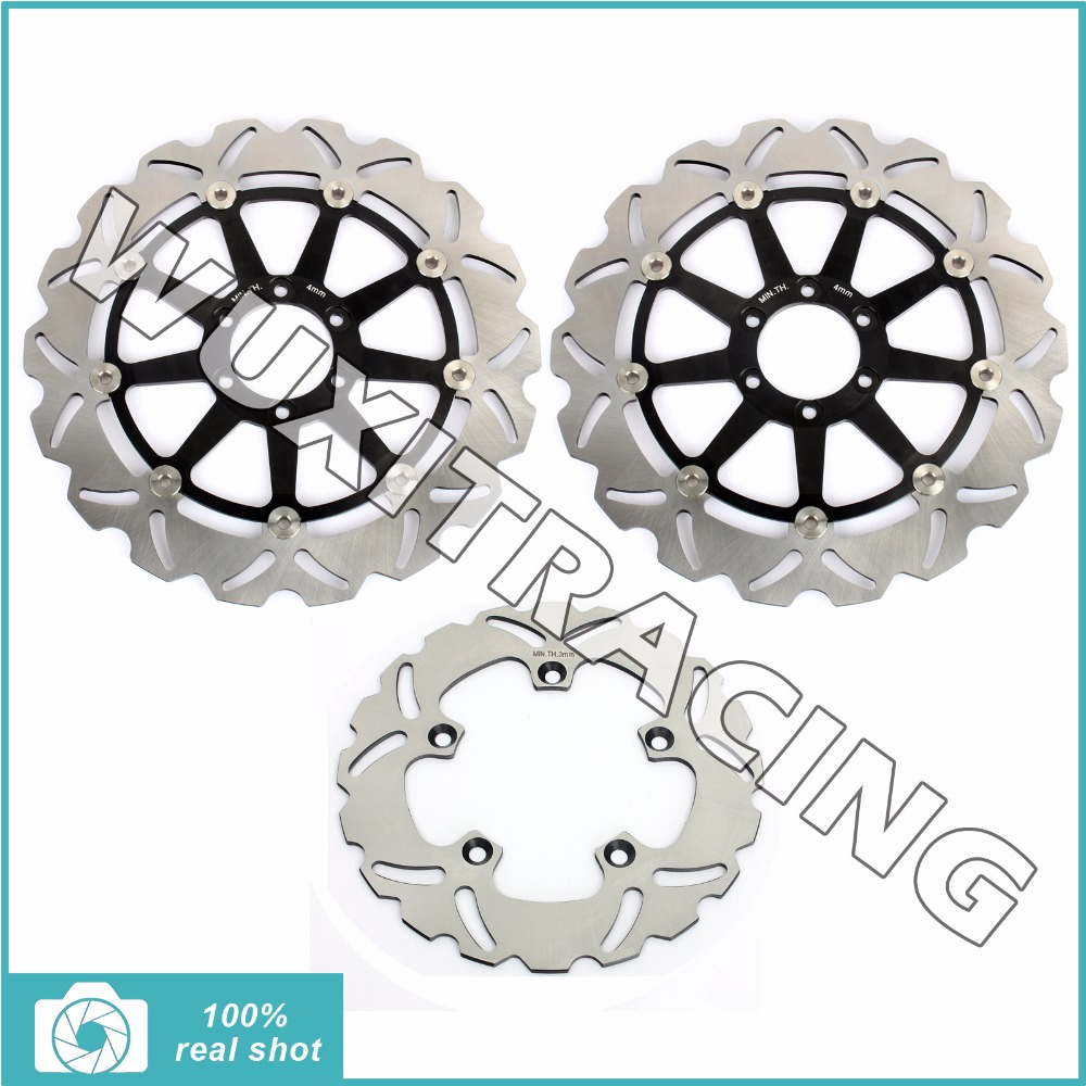 Front Rear Brake Discs Rotors for APRILIA RSV 1000 R  FACTORY SP RR RSV4 1000 RR SL 1000 FALCO TUONO 1000 R TUONO V4 R APRC ABS 10 pcs rf coaxial adapter sma female to mcx male straight new