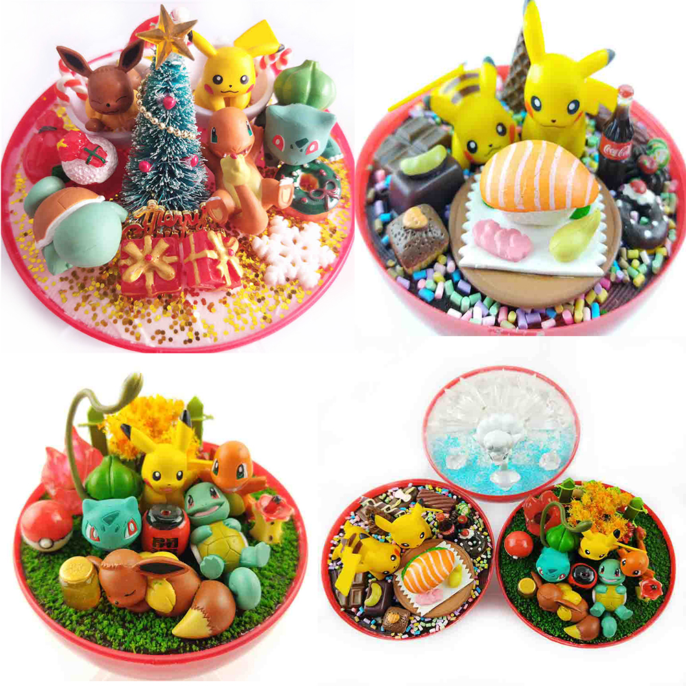 2019 New Anime Pokeball XY Figures Monster Pikachu Bulbasaur Handcraft DIY Figures Model Toys Brinquedos Christmas Model Toy
