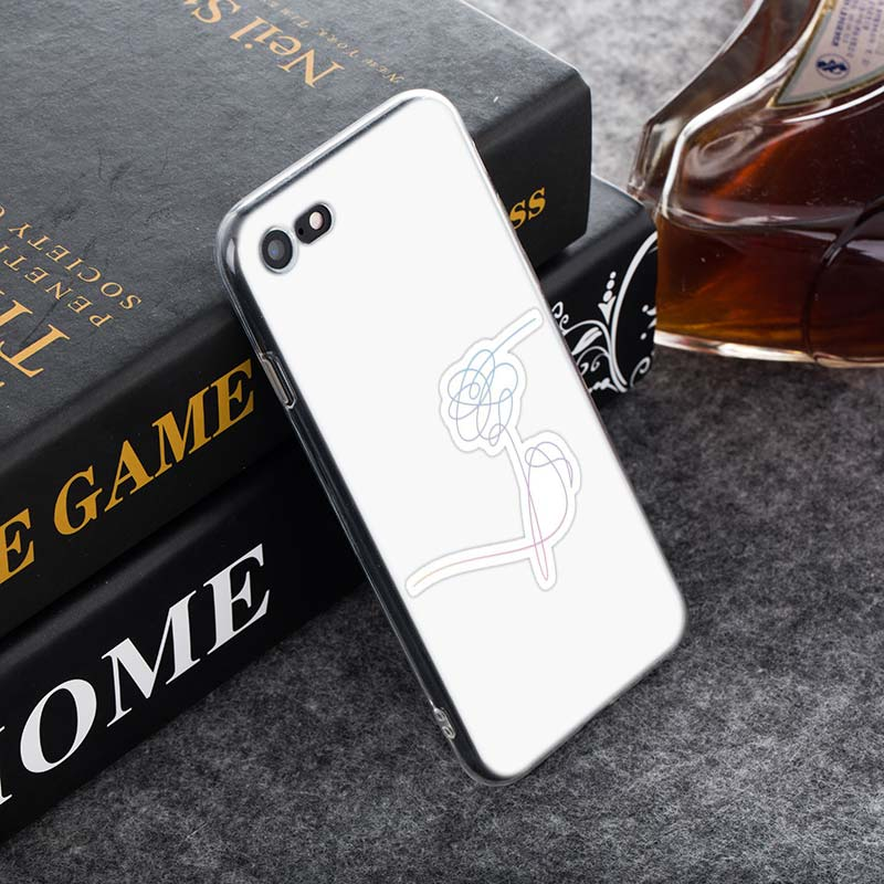 Transparent Soft Silicone Phone Case finger kpop for iPhone XS X XR Max 8 7 6 6S Plus 5 5S SE in Fitted Cases from Cellphones Telecommunications