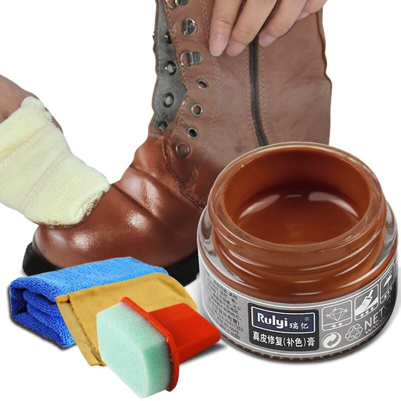 30 ml teñido de cuero agente reparación color crema de zapatos polaco negro real sofá de cuero renovación Reparación de rasguño