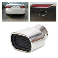 Universal CURVED Exhaust Tailpipe Tail Pipe Rear Muffler End Trim For Nissan Versa Honda Fit Ford