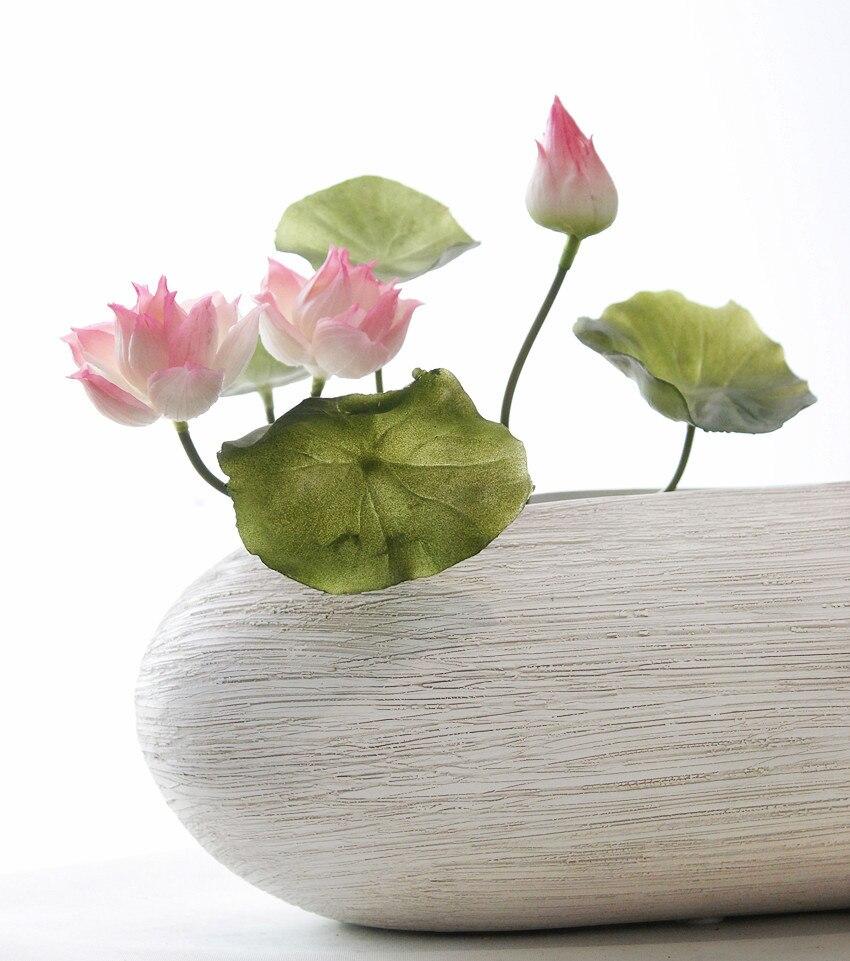 Silicone Flower Artificial Fake Lotus Flowers Bouquet Aquarium Lotus