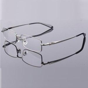 Image 4 - Hotony Mode Mannen Titanium Legering Brilmontuur Optische Brillen Recept Brillen Volledige Velg Frame Bril Vision Frame
