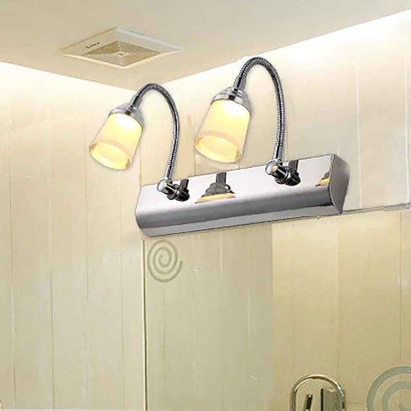 Halogen Bathroom Light: Hot Fashion Bathroom Wall Lights Stainless LED Wall Lamp,Lighting