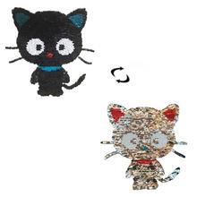 Shinequin Симпатичная кошка раскладные двусторонние нашивки