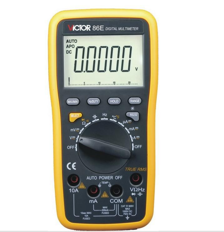 Fast arrival VICTOR multimeter VC86E 4 1/2 Digit Precision multimeter / frequency / capacitance / temperature with USB victor vc70f digital multimeter