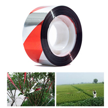 5PCS/Lot Reflective Bird Scarer Tape Repellent Audible Fox Pigeons Repeller Ribbon Deterrent Tabes 2.5cmx50m