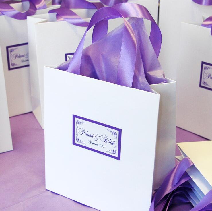 Elegant wedding welcome bags candy gift bags with satin ribbon and elegant wedding welcome bags candy gift bags with satin ribbon and tag custom paper bags wedding birthday party favors bags hg01 in gift bags wrapping negle Image collections