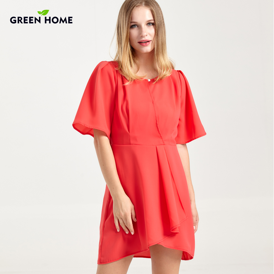 Green Home Summer Red Chiffon Maternity Breastfeeding Dress Maternity Dresses for Women Pregnant Nursing Dress for Party new party pregnant coat lace long pregnant breastfeeding dresses for women nursing dress hot selling