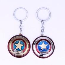 Горячая Marvel супер герой брелок Капитан Америка Звездный щит Бронзовый Красный Серебряный автомобильный брелок для ключей для фанатов Porte Clef Llaveros