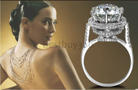 Vintage big Ring forever Wedding Band for Women 5 Carat Brilliant Cut NSCD Simulated Diamond Engagement ring (BB)