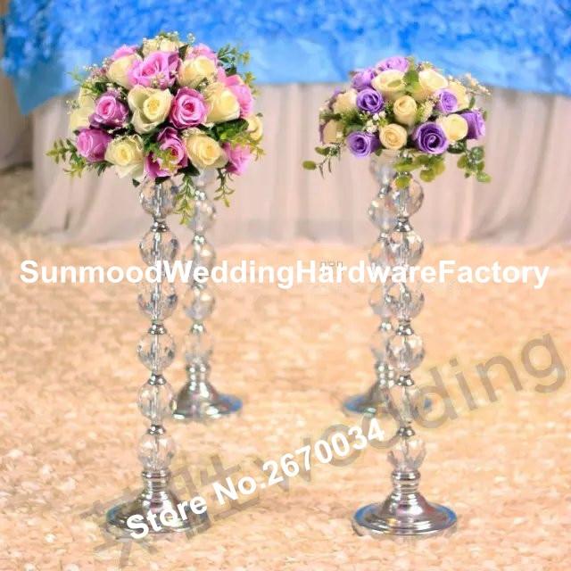Elegant Slim Clear Acrylic Flower Vase Trumpet Vases Centerpieces