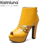 KarinLuna Brand Design Big Size 34 50 Summer Shoes Women Sandals Good Quality Party Date High