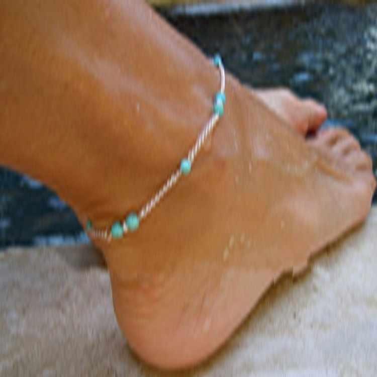 Оптовая продажа уникальные нейлоновые бусины из бисера Серебряные ножные браслеты с цепочкой сувениры браслет на ногу ювелирные изделия Быстрая Бесплатная Доставка богемные
