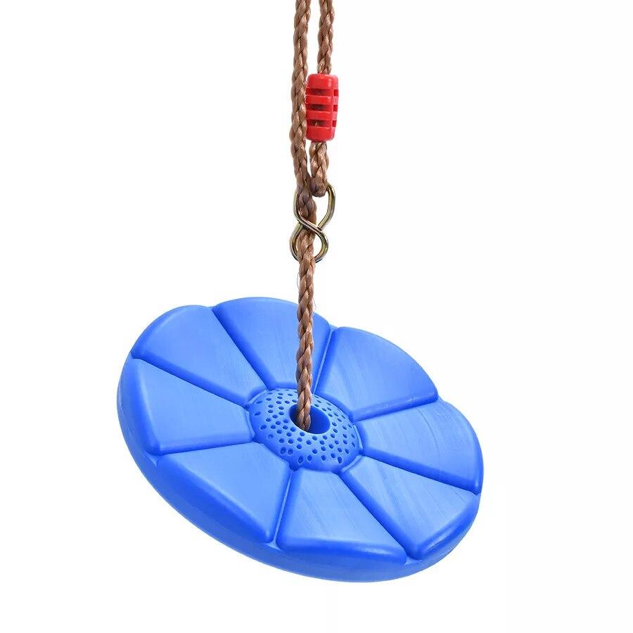 Plastic Disc Octagonal Petal Child Swing Outdoor Indoor Climbing Tray Hanging Seat