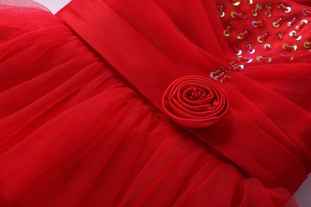 b0ec7508 US $19.32 50% OFF|Kwiat sukienki dla dziewczynek ślub Birthday Party  czerwona sukienka kwiat dziewczyna ubiera dzieci ubrania letnie GD40814 44  w ...