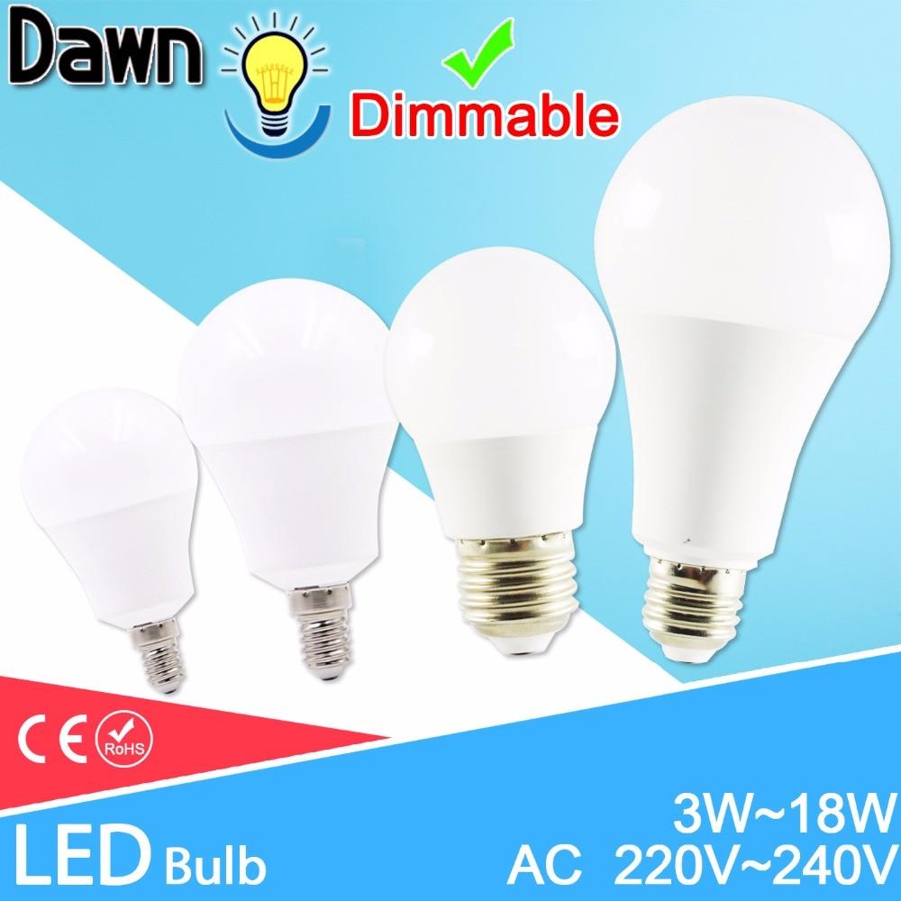 LED Lamp E27 LED Bulb AC 220V 240V 20W 18W 3W 15W 12W 9W 6W Lampada LED Spotlight Table Lamp Lamps Light  LED E14 230V