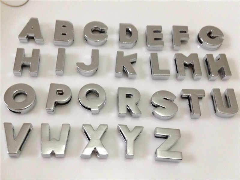 """8 ミリメートル DIY シルバー平滑面スライドの文字「 A-Z """"手紙自由に選択フィット 8 ミリメートル DIY ベルトブレスレット SL08"""