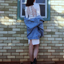 INDRESSME Elegant Solid Full Sleeve Sexy Lace Midi O Neck Bodycon Autumn Women Lady Bandage Dress Vestidos 2017 New Arrival