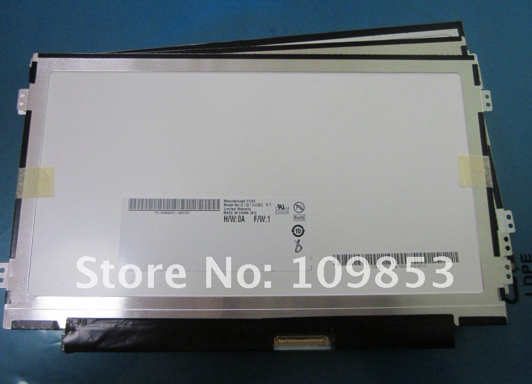 "10.1"" slim LED Screen Display B101AW06 Compatible LTN101NT05 N101I6 For ACER ASPIRE ONE D255 D260 D257 D270"