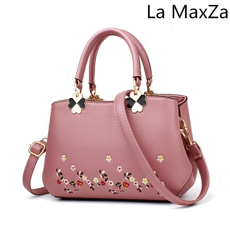 La MaxZa Women's bag 2018 new best selling single shoulder diagonal embroidery embroidery classic handbag