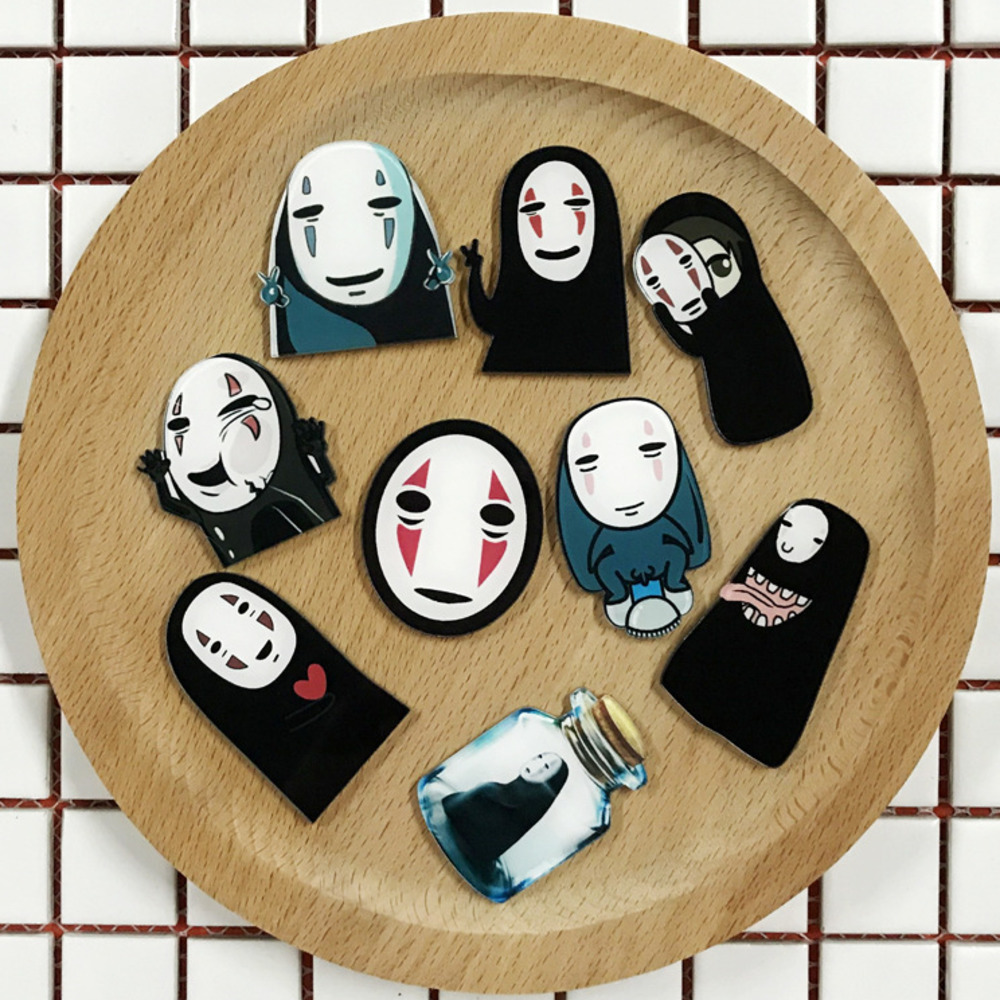 No-face Hime Anime Iron on Patch Spirited Away Embroidered Japan