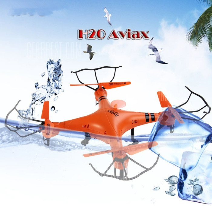 2016 Newest H2O 2.4GHz 4CH with LCD Transmitter Waterproof RC Drone helicopter 3D Eversion 6 Axis Headless Mode vs V977 FQ777