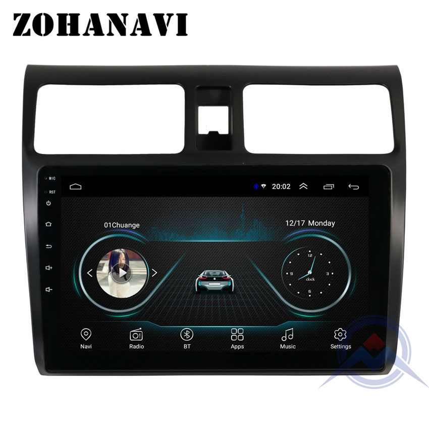 ZOHANAVI 2.5D Screen Android 8.1 Car multimedia player for SUZUKI swift 2004-2011 car radio DVD GPS navigation stereo audio