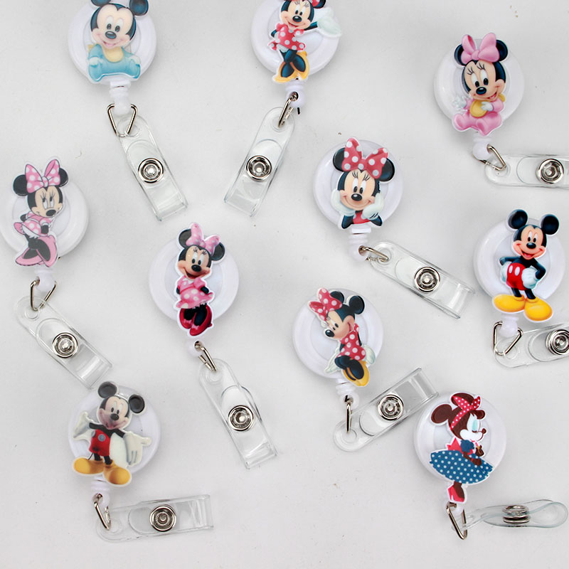 2018 New Cartoon Acrylic ID Badge Reel New Design Nurse Candy Color Design Bank Credit Card Holder K209