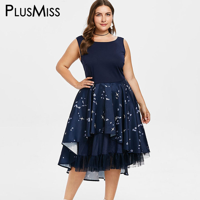64fc5912a5 US $37.91  PlusMiss Plus Size Sexy Backless Vintage Retro Ruffle Lace Dress  5XL Women Sleeveless Midi Tank Party Dresses XXXXL XXXL XXL -in Dresses ...