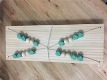 Wooden Beads Wall Shelf