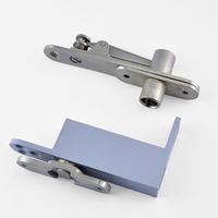 2Set Stainless Steel 304 Door Pivot Hinges Invisible Hidden Freely Door Hinges with Auto Soft Close Function Install Up and Down