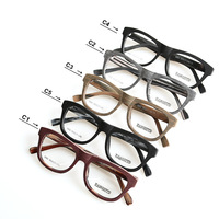 2017 New Fashion Eyeglasses Wood Acetate Handmade Frame Men Vintage Retro Spectacles Frame Clear Lens Eyewear