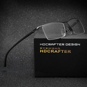HDCRAFTER tr90 titanium קוצר ראייה משקפיים גברים משקפי קריאת מסגרת גברים משקפיים אופטיים מסגרת עבור זכר eyewear