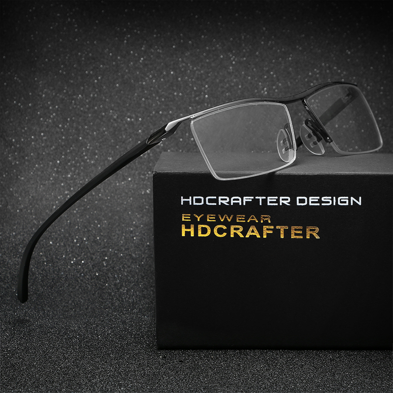 HDCRAFTER  tr90 titanium myopia glasses men reading glasses frame men optical eyeglasses frame for male eyewear