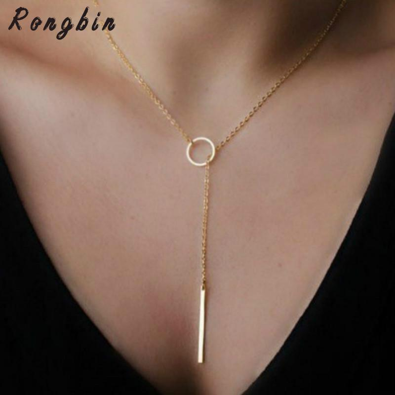 Fashion Casual Personality Infinity Cross Lariat Pendant Gold Color and silver Color Chokers Necklace women jewelry