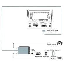 يدوي سيارة بلوتوث أطقم MP3 AUX محول واجهة ل RD4 بيجو CITROEN