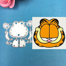 1pcs Cute Garfield Cutting Die Stencils for DIY Scrapbooking Album Stamp Paper Card Embossing