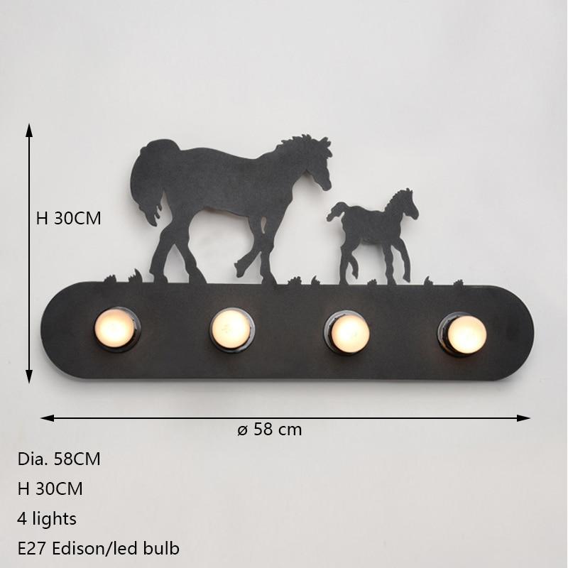Lâmpadas de Parede e27 iluminação para bar quarto Cor do Corpo : Preto