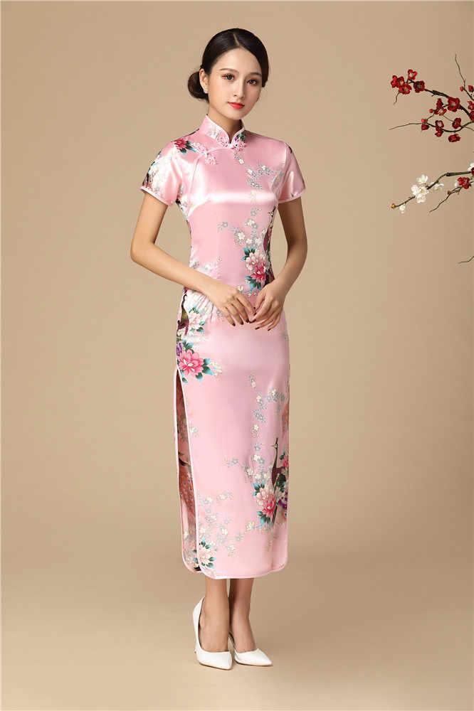 9300c163d0 Classic Female Rayon Qipao Red Chinese Bride Wedding Dress Long Slim  Vestidos Plus Size 3XL 4XL 5XL 6XL Print Floral Cheongsam