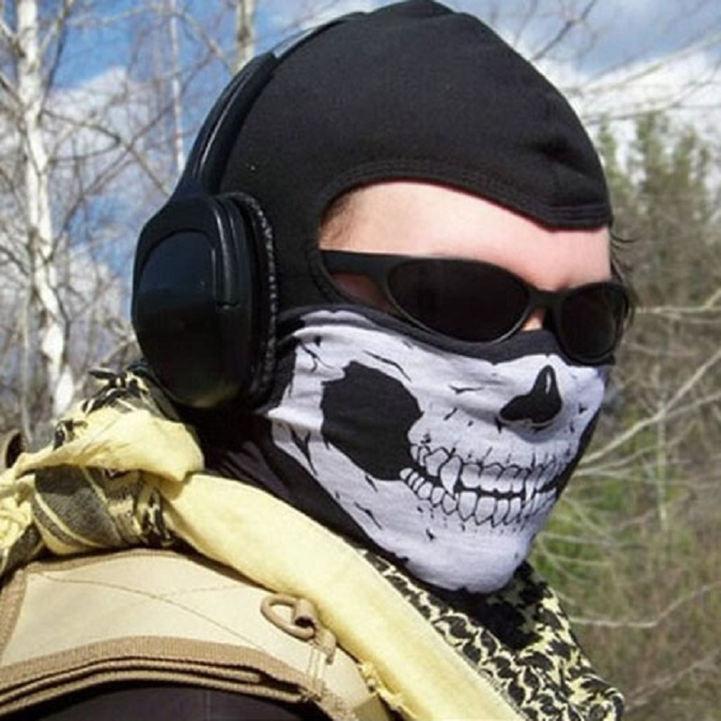 Фото в маске черепа на аву