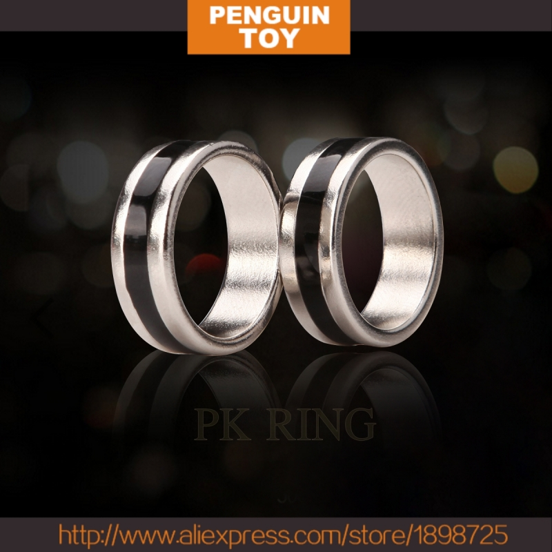 HOT Close-up magic Magnet Ring PK Ring with black pattern 21mm/20mm/19mm/18mm,stage/closeup,fire,comedy,Accessories magic tricks
