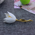 Free Shipping Fashion Jewelry Accessories White Red Tulip Brooch New Unique Popular Party Christmas Gift Hot Brooch Jewelry Sets