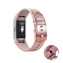 Genuína de luxo de Couro Relógio de Pulso Strap Band para Fitbit Carga 2 Pulseira de Liberação Rápida Cinta Substituto para Fitbit Carga 2