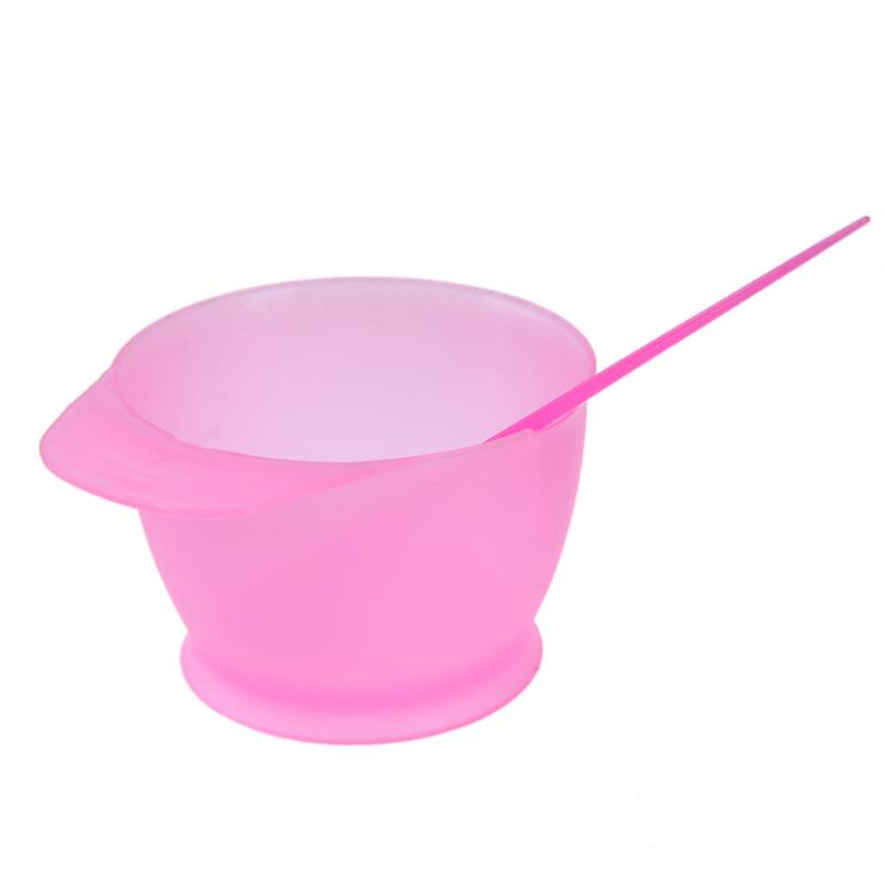 2pcs/Set Plastic Hair Dye Colouring Brush Comb Bowl Hairdressing Styling Tools Hair Dyeing Kit Hair Color Mixing Bowls Hairdress 4