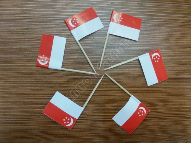 US $9 39 |Aliexpress com : Buy 300Pcs Singapore Toothpick Flags Paper Food  Picks Cake Toothpicks Cupcake Toppers Fruit Cocktail Sticks Decoration
