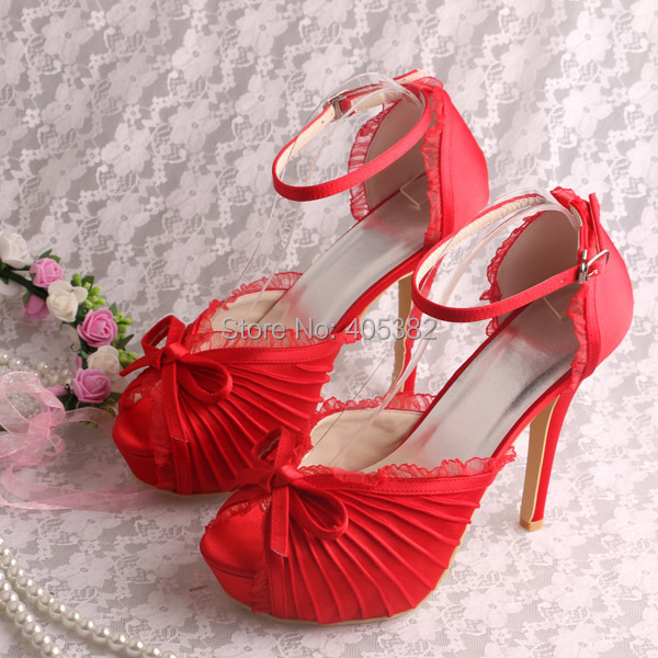 ФОТО (20 Colors)Hot Selling Luxury Brand Heels Sandals Shoes Wedding Party Red Satin