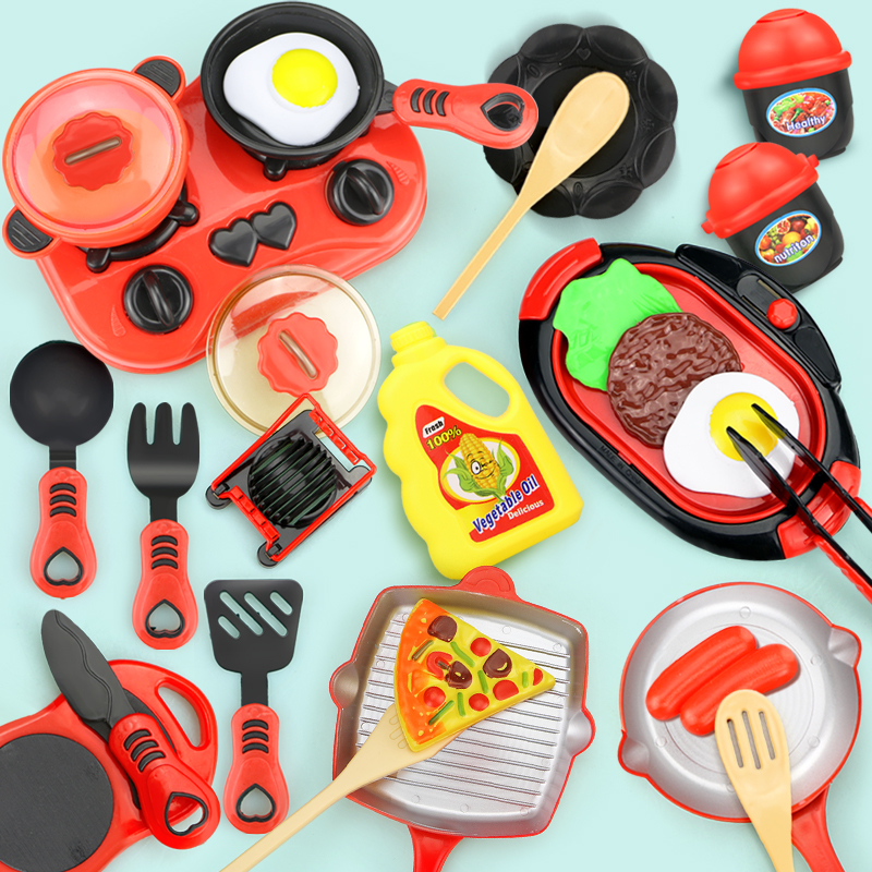 Children Miniature Kitchen Toys Set Pretend Play Simulation Food Cookware Pot Pan Cooking Play House Toy Gift For Girl Boy Kids