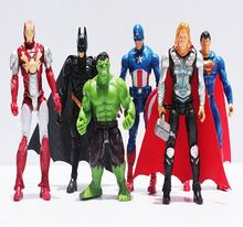 6pcs The Avengers figures super hero toy doll baby hulk Captain America supehero batman thor Iron man Free Shipping
